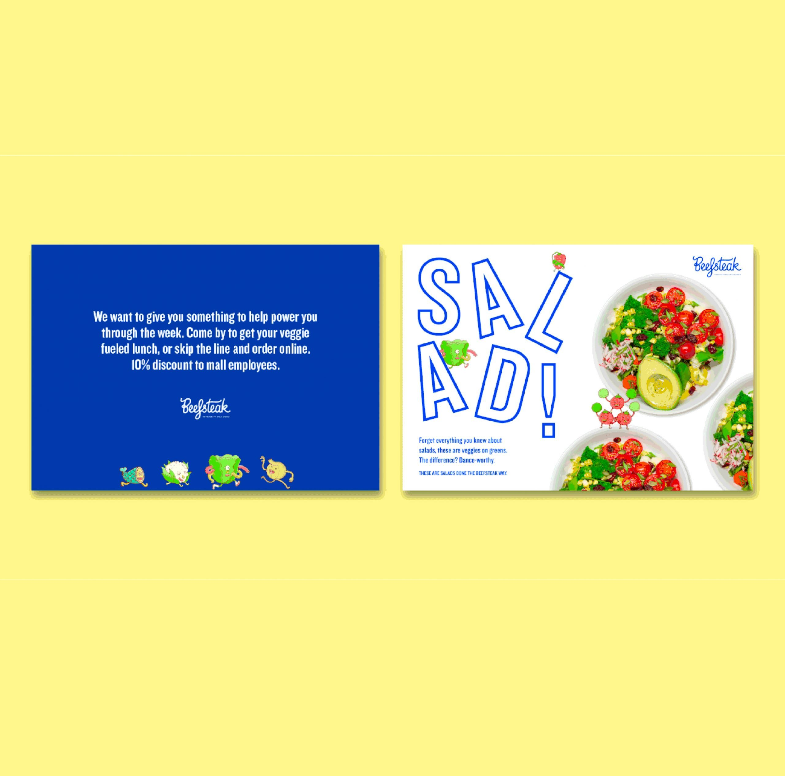 brand strategy on creative marketing materials for Beefsteak restaurants