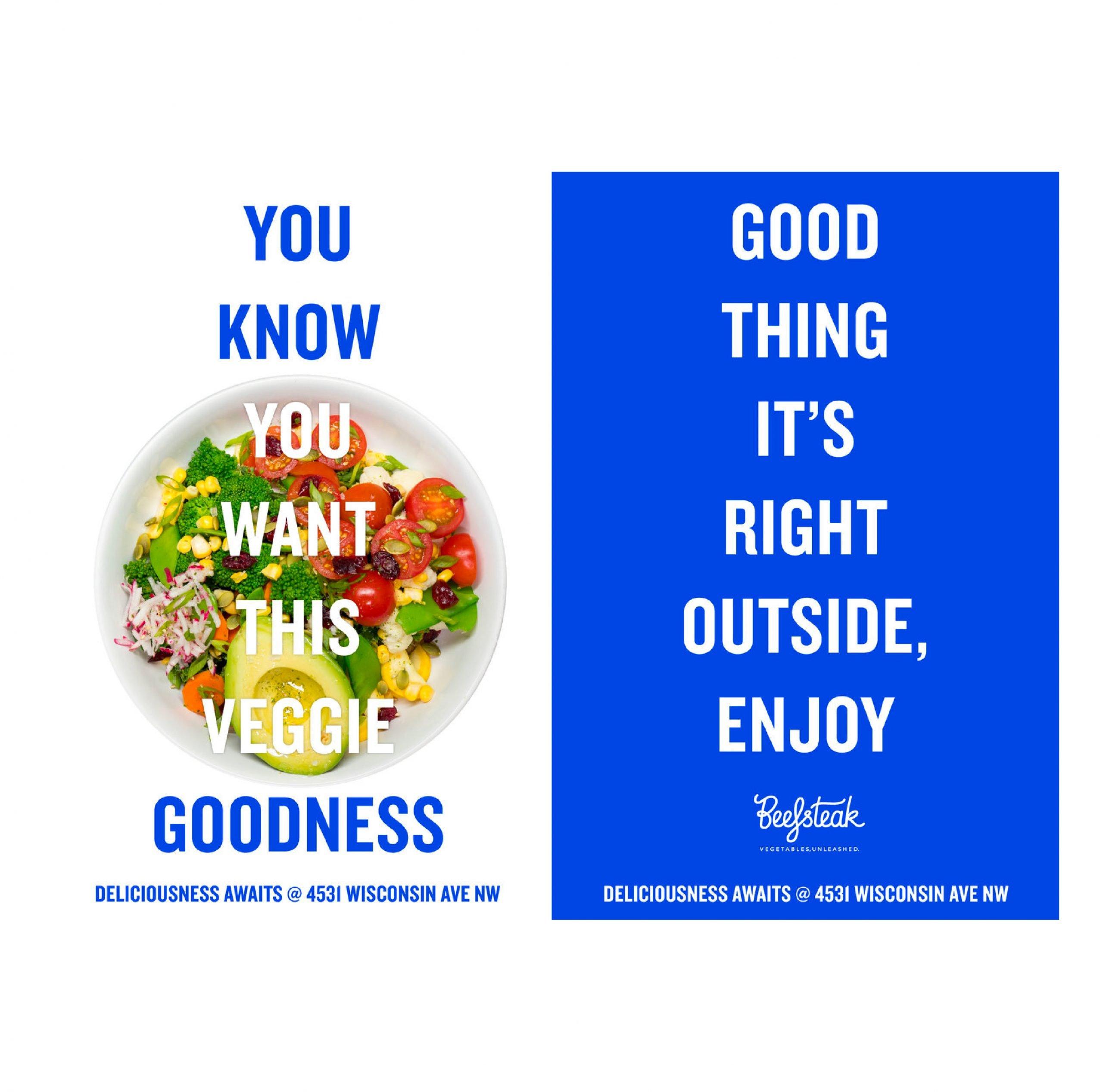 Beefsteak restaurants marketing materials created by our brand design agency