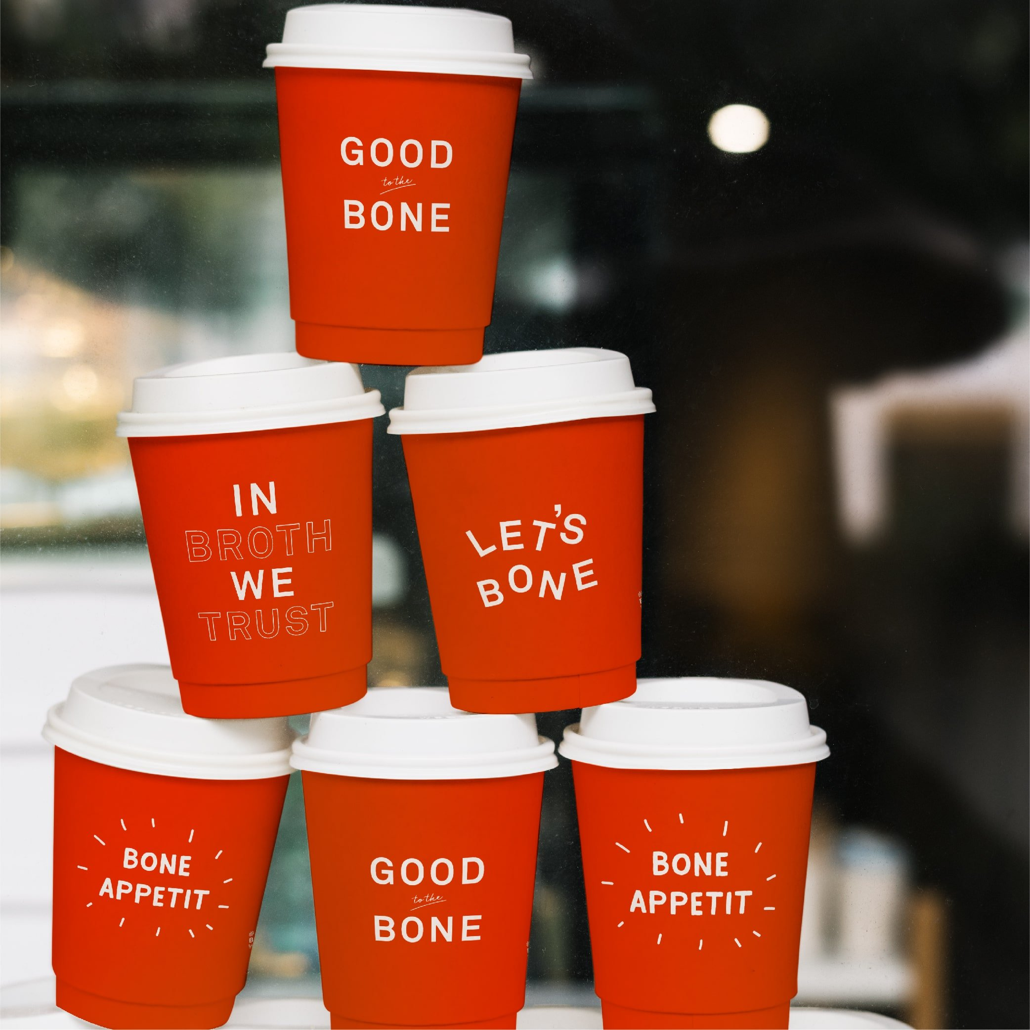 cups showing branded packaging design for Belcampo